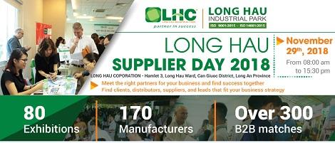 Long Hậu Supplier Day 2018: Kênh kết nối giao thương hữu hiệu giữa nhà cung cấp và doanh nghiệp sản xuất