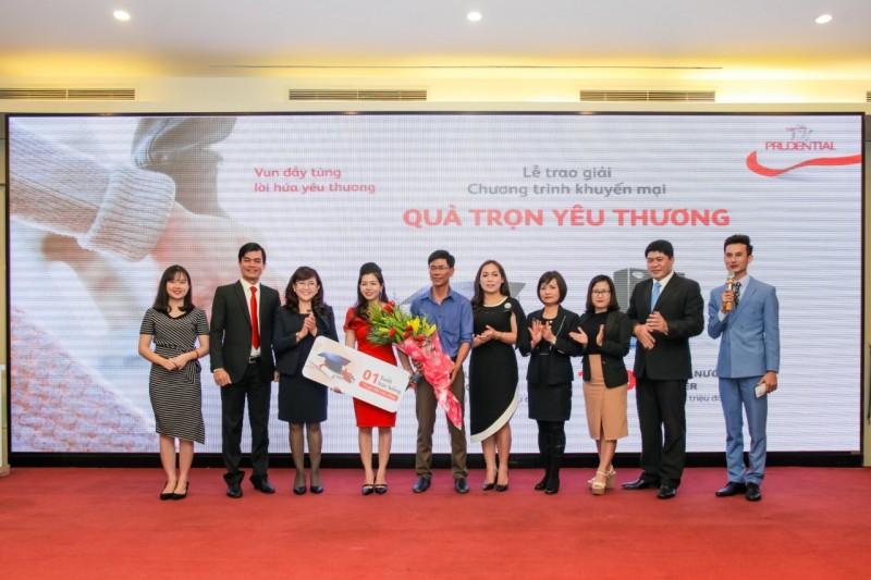 Prudential trao giải thưởng trị giá 11 tỷ đồng tới các khách hàng may mắn