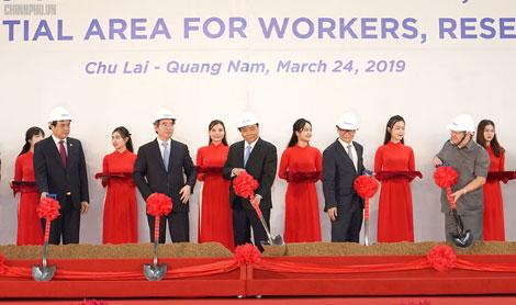 Thủ tướng dự lễ khởi công các dự  án tại Khu kinh tế Chu Lai