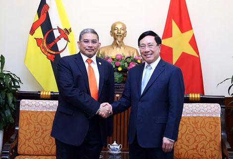 Việt Nam, Brunei nhất trí phối hợp thúc đẩy vai trò trung tâm của ASEAN