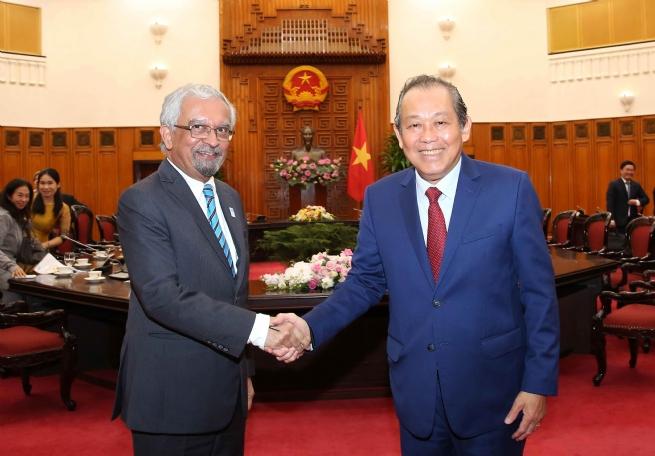 Tiếp tục thúc đẩy các hoạt động hợp tác với Liên Hợp Quốc