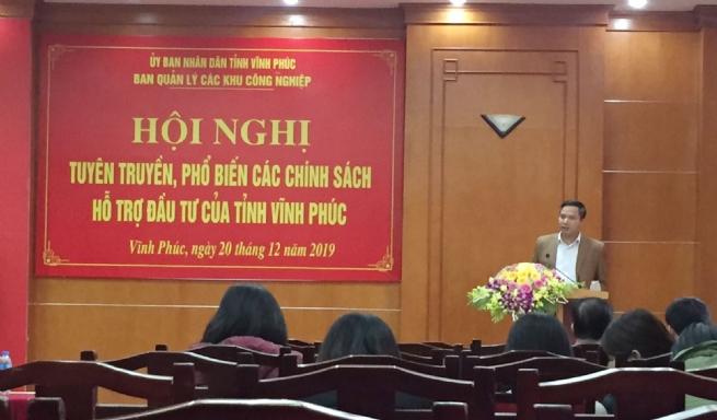 Vĩnh Phúc tổ chức Hội nghị tuyên truyền phổ biến các chính sách hỗ trợ đầu tư của tỉnh