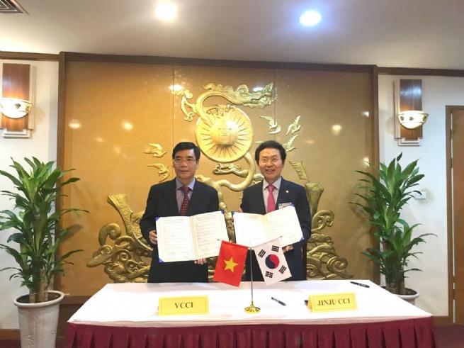 VCCI ký thoả thuận hợp tác với Phòng Thương mại và Công nghiệp JEJU (Hàn Quốc)