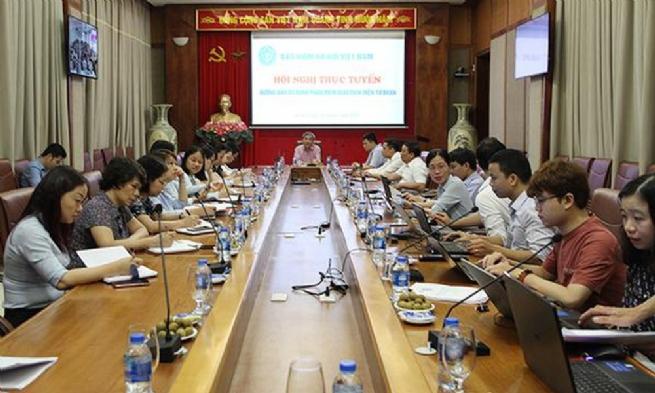 BHXH Việt Nam tổ chức hội nghị trực tuyến về phần mềm giao dịch điện tử