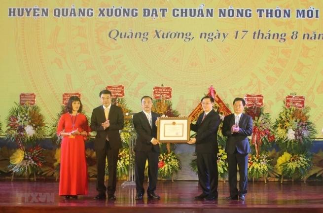 Huyện Quảng Xương, Thanh Hóa đón nhận quyết định đạt chuẩn nông thôn mới