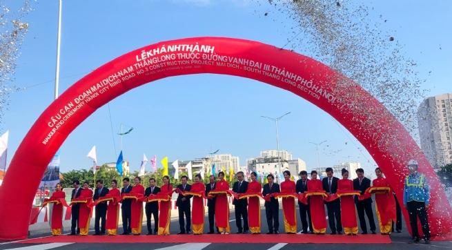 Khánh thành cầu cạn đoạn Mai Dịch – Nam Thăng Long