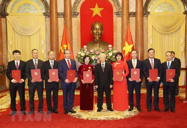 Tổng Bí thư, Chủ tịch nước Nguyễn Phú Trọng tiếp các Đại sứ, Tổng Lãnh sự Viêt Nam ở nước ngoài