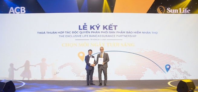 Asia Commercial Joint Stock Bank and Sun Life Vietnam announce a 15-year exclusive bancassurance partnership in Vietnam