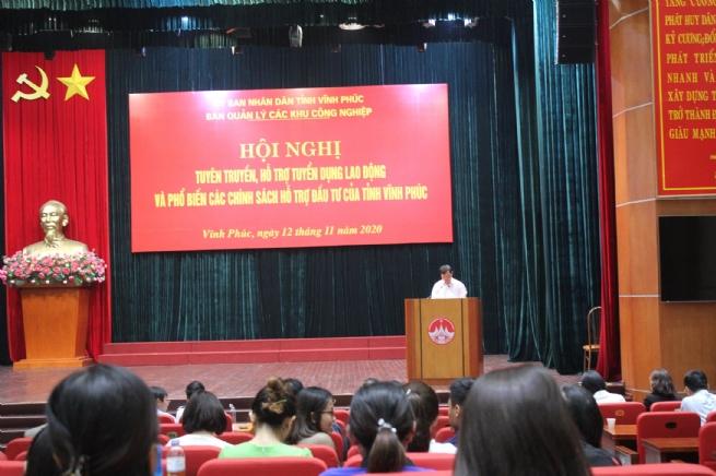 BQL các KCN Vĩnh Phúc: Tăng cường các hoạt động hỗ trợ doanh nghiệp trong tuyển dụng lao động
