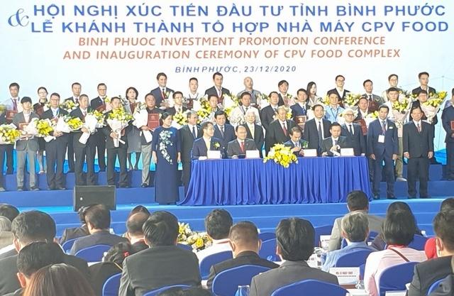 Hội nghị Xúc tiến đầu tư tỉnh Bình Phước: Ký kết 46 dự án với số vốn hơn 2 tỷ USD