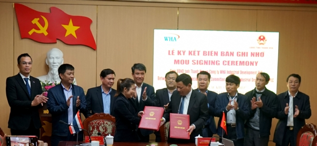 WHA Industrial Development Signs MoU To Develop 2 Industrial Zones in Thanh Hoa Province
