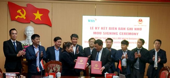 WHA Industrial Development ký kết Biên bản ghi nhớ phát triển 2 khu công nghiệp tại tỉnh Thanh Hóa