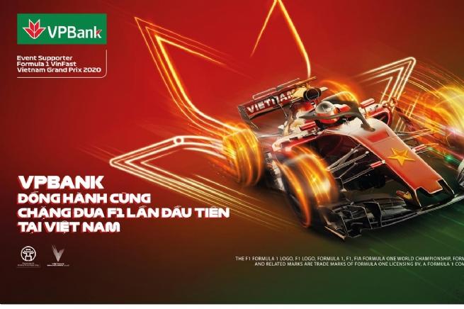 VPBank giảm 5% giá và tặng vé miễn phí cho khách hàng tham dự giải đua xe F1 Việt Nam Grand Prix
