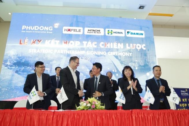 Phú Đông ký kết hợp tác chiến lược với 15 đối tác