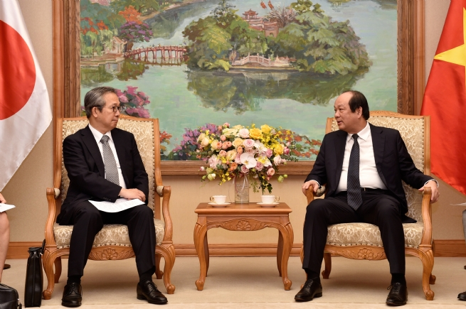 Bộ trưởng, Chủ nhiệm VPCP tiếp tân Đại sứ Nhật Bản