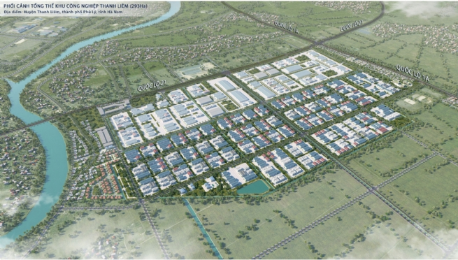Thanh Liem Industrial Park, Ha Nam- Speeding up construction of infrastructure to receive investment waves