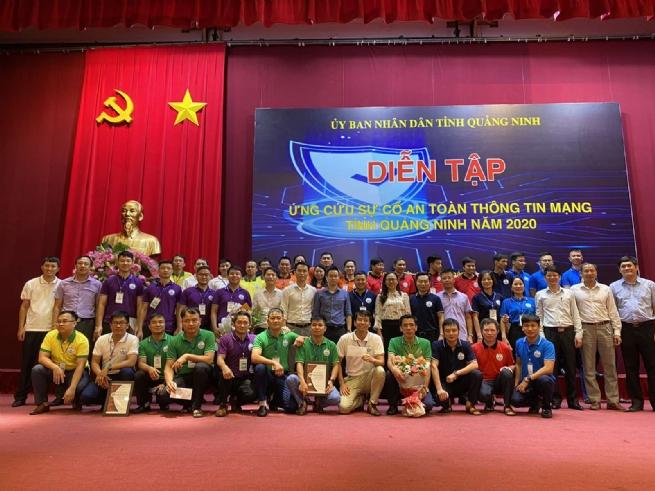 Diễn tập ứng cứu sự cố an toàn thông tin mạng tỉnh Quảng Ninh năm 2020