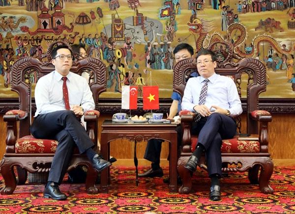 Tỉnh Vĩnh Phúc tiếp và làm việc với Phó Đại sứ Singapore tại Việt Nam