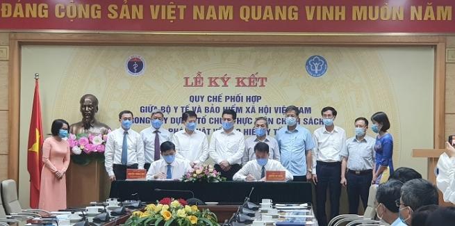 BHXH Việt Nam ký kết Quy chế phối hợp với Bộ Y tế  trong xây dựng, tổ chức thực hiện chính sách, pháp luật BHYT