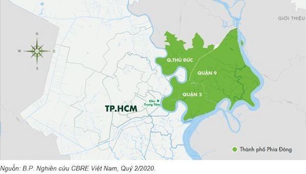 Giới đầu tư hướng về phía Đông TP.HCM