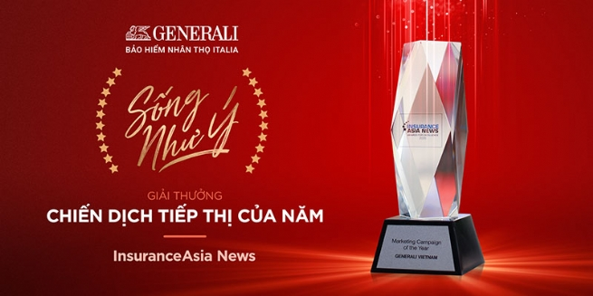 """""""Sống Như Ý"""" của Generali Việt Nam nhận giải """"Chiến dịch Tiếp thị của Năm"""" do InsuranceAsia News trao tặng"""