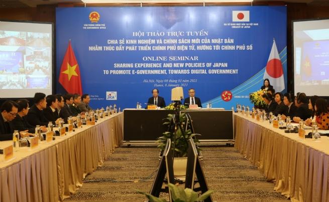 Hội thảo chia sẻ kinh nghiệm về phát triển Chính phủ điện tử của Nhật Bản