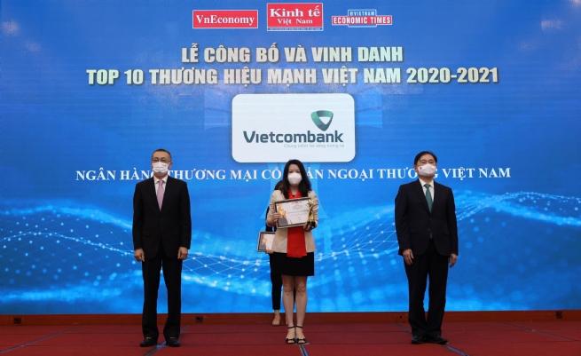 Vietcombank - Top 10 Thương hiệu mạnh Việt Nam năm 2020-2021