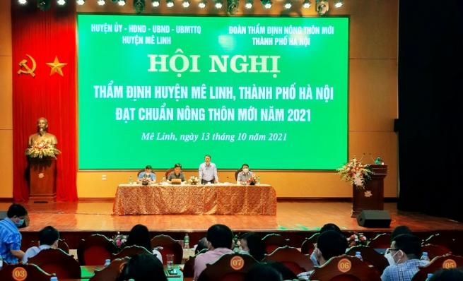 Mê Linh đạt chuẩn Nông thôn mới năm 2021