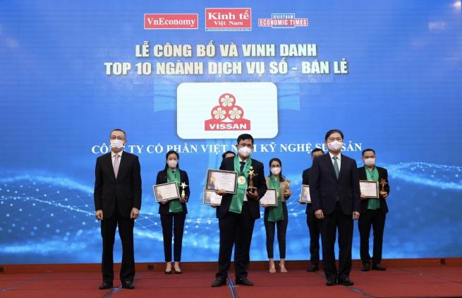 VISSAN được vinh danh trong Top 10 ngành Dịch vụ số - Bán lẻ Thương hiệu Mạnh Việt Nam năm 2021