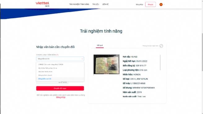 """Viettel OCR- Lời giải cho """"Tự động hóa"""" dữ liệu"""