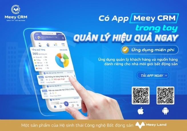 Ra mắt Ứng dụng Quản lý khách hàng và nguồn hàng dành riêng cho nhà môi giới bất động sản - Meey CRM