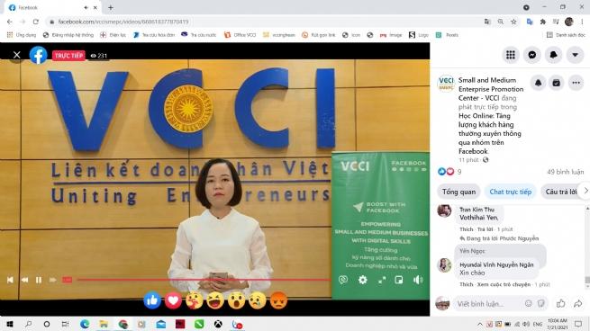 VCCI Nghệ An đào tạo online về tương tác nhóm