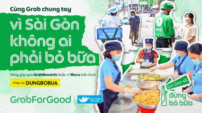 """""""Sài Gòn ơi, đừng bỏ bữa"""", Grab Việt Nam mang bữa ăn đến với người khó khăn trong dịch COVID-19"""