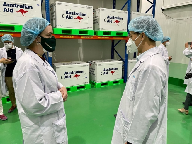 First shipment of Covid vaccine doses from Australia arrives in Vietnam