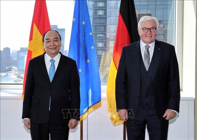 Chủ tịch nước Nguyễn Xuân Phúc tiếp Tổng thống Đức